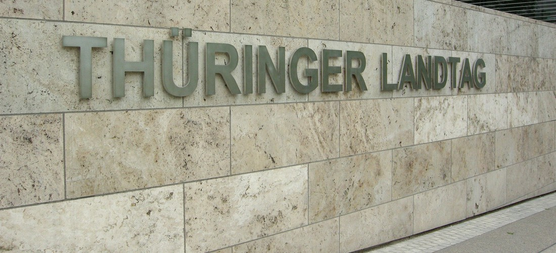 Schriftzug Landtag